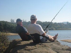 Howzat Seat fishing Andy and Billy 2